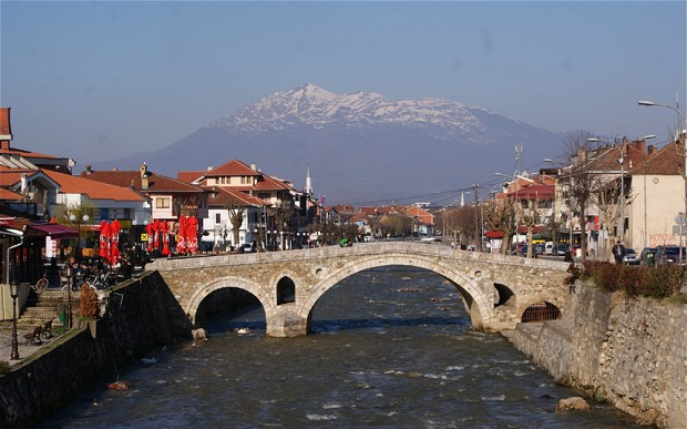 A look out over the mountains beyond the historic city of Prizren in Kosovo Photo: Ismail Gagica