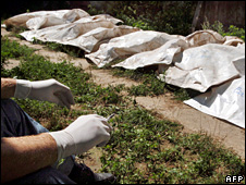 Other mass graves of Kosovo Albanians have been found in Serbia