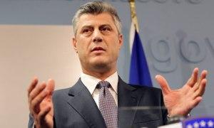 Kosovo's Prime Minister Hashim Thaci identified in secret Nato reports as having involvement in criminal underworld. Photograph: Valdrin Xhemaj/EPA