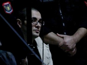 Confessed assassin Julian Sinanj during a hearing in the Tirana Court of Serious Crimes | Photo from : LSA