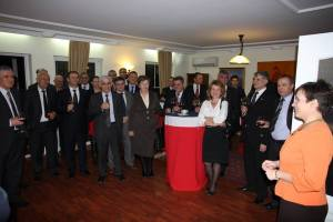 A reception for the men and women, in Kosovo to stamp out Corruption.