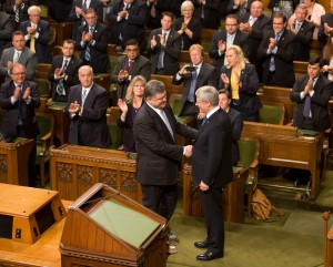 Poroshenko in Canadian Parliament during his official visit.