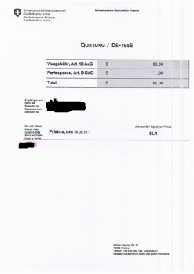 Receipt for payment