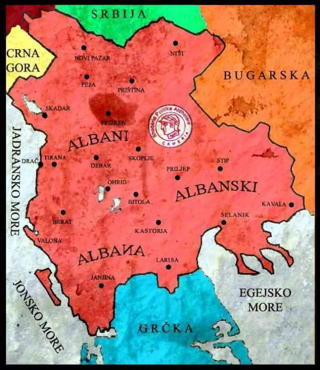 Russian map of Albania 1881