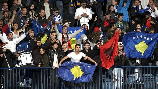 Kosovo are ranked 190th in the world